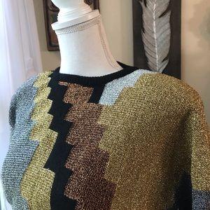 vintage 80s i.b. diffusion metallic sweater